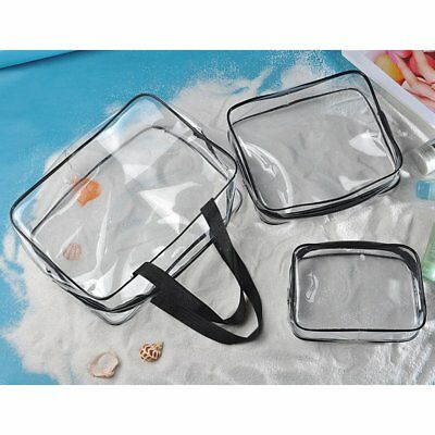 3pcs Cosmetic Makeup Toiletry Clear Travel Wash Bag Holder Pouch Kit Organizer