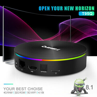 32/64GB T95Q Android 8.1 TV Box Amlogic Quad Core BT4.1 UHD 4K HD Media B6N4