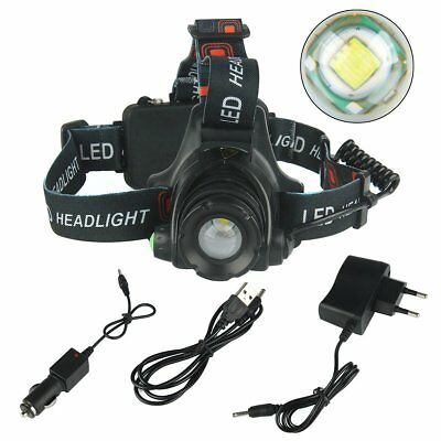 12000LM XM-L T6 LED Rechargeable 18650 USB Headlamp Head Light Torch Zoomable