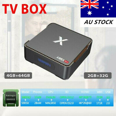 A95X TV Box MAX Android S905X2 Network Player 4GB+32GB/64GB WiFi HDMI 1080P AU