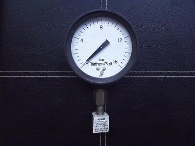 Mather & Platt Pressure Gauge 0-16b 1970's