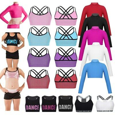 Sport Dance Crop Top Bra Top Girls Teenage Gym Yoga Vest Top Underwear Workout