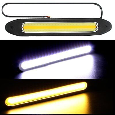2pcs Waterproof 12V LED COB Car Auto DRL Driving Daytime Running Lamp Fog Light