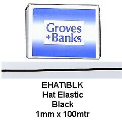 NEW | Hemline EHAT | Hat Elastic 1mm x 100m | FREE SHIPPING