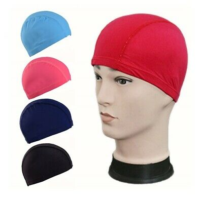 New Unisex Children's Kids Swimming Hat Cap Swim Boys Girls Nylon Spandex Fabric