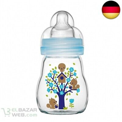 MAM 67037411 - Feel Good Glass Bottle 170 ml, Glasflasche, für Jungen