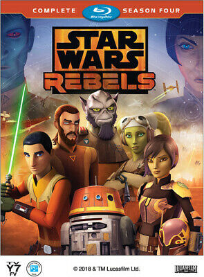 Star Wars Rebels: The Complete Season 4 (Fourth Season) (2 Disc) BLU-RAY NEW