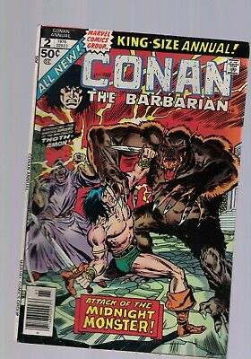 Marvel Comic Conan the Barbarian King Size Annual no 2 1976 50c USA