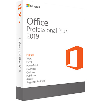 Microsoft Office 2019 Professional Plus 32 or 64 bit download with key for win10