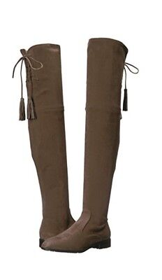 f9db98d9de0  230 MARC FISHER Alinda Over The Knee Boot Gray Stretch Fabric Women ...
