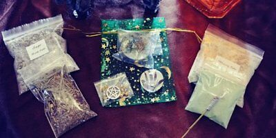 Wiccan Pagan , Money, Wealth, Prosperity, Cleansing Spell Kit, Gothic, Magic