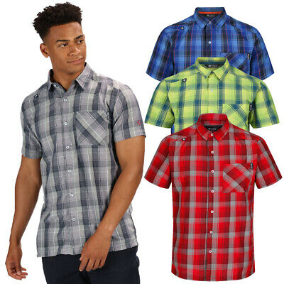 Regatta Mens Kalambo IV Wicking Quick Dry Short Sleeve Shirt