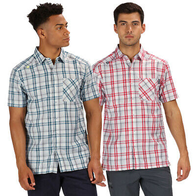 Regatta Mens Mindano IV Wicking Quick Dry Short Sleeve Shirt