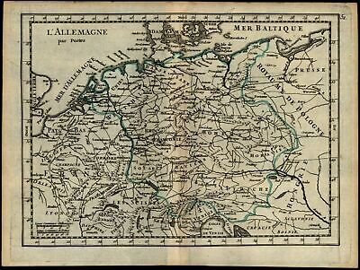 Central Europe Germany Bohemia Moravia Austria France 1748 antique map Le Rouge