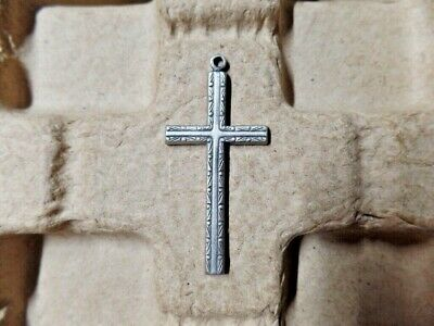 Nice Vintage Religious Cross Pendant/Necklace's no Chain or Markings (R-08)