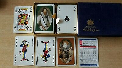 Waddington Playing Cards GB the Queen Romme 2 x 55 Blatt