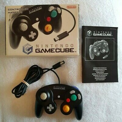 RARE BOXED Official Nintendo GameCube Original Controller - Black VGC