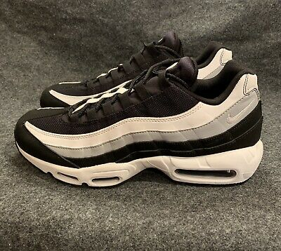 newest 2bace b81f3 Men s Nike Air Max 95 Essential Black White Wolf Grey Noir 749766 038 Size  10