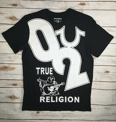 b0d04dd3 Mens True Religion Jeans Graphic Tee Buddha T-Shirt Black Top S M L XL 2XL  3XL