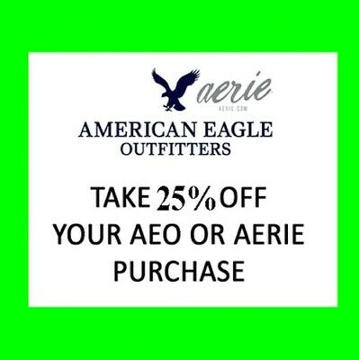 RECEIVE TODAY: American Eagle AE Aerie COUPON 25% OFF! + 25-60% JEANS & JOGGERS