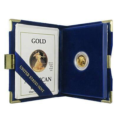 1989 W - Proof American Gold Eagle 1/10 oz $5 West Point Case Box & COA Key Date