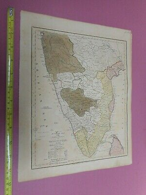 100% Original Southern  India Map By Wilkinson C1791 Original Colour Low Start