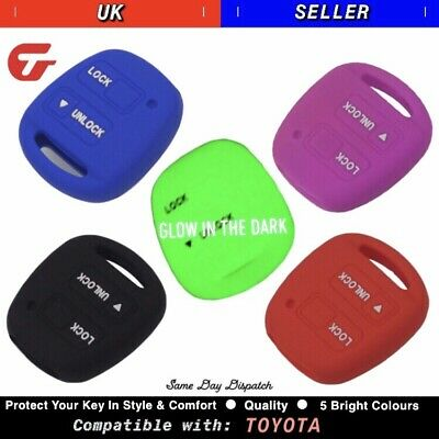 TOYOTA Silicone 2 Button Key Cover Case - Camry RAV 4 Corolla Avensis Yaris etc