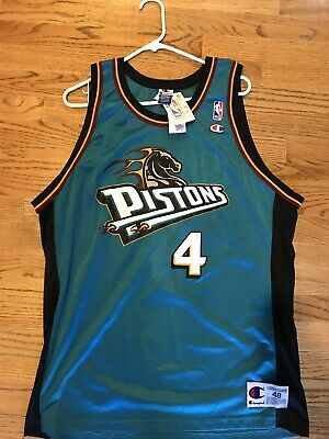 2cfc22f8e Vintage Detroit Pistons Joe Dumars basketball jersey NBA Champion Men s 48  BNWT
