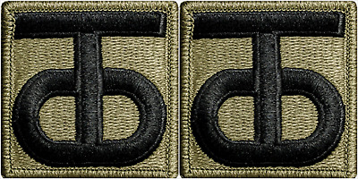 2 Pack U.S. Army 90th Reserve Command OCP Hook Military Patches