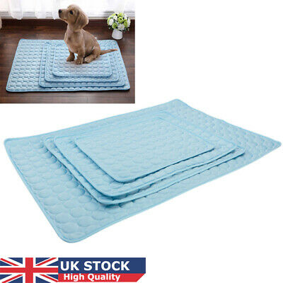 Pet Dog Cat Cooling Mat Pad Puppy Self Cool Gel Bed Non Toxic Summer Heat Relief
