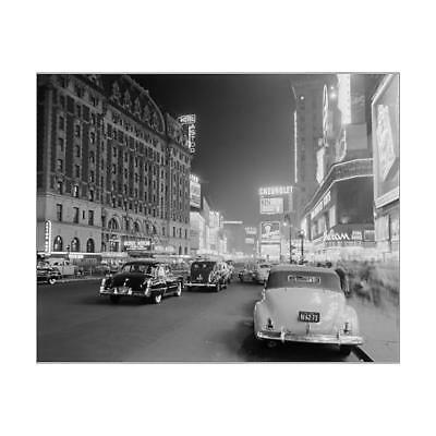 """10""""x8"""" (25x20cm) Print of Times Square at night from"""
