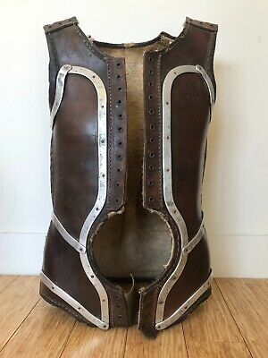 CORSET Rare & Valuable Antique French Leather Medical Scoliosis Corset Corsage18
