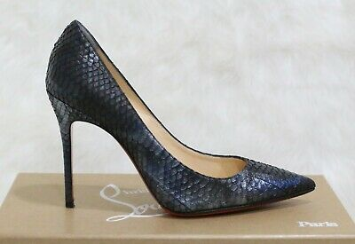 0355fd3059c7 Christian Louboutin Decollete 554 100 Blue Watersnake Pumps EU 36 US 6.5
