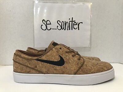 5466b670191 NIKE SB Zoom Stefan Janoski Elite Cork Ale Brown Skate Shoes 725074-201 Sz  13