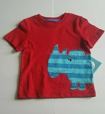 Circo Baby Boy T-Shirt NWT 18 Months Red Blue Turquoise Rhino 100% Cotton