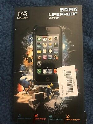 NWT NEW LifeProof Authentic Fre Apple iPhone 5 5S SE Case Water/Dust Proof Black