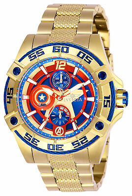 Invicta Women's 27019 'Marvel' Captain America  Gold-Tone Stainless Steel Watch