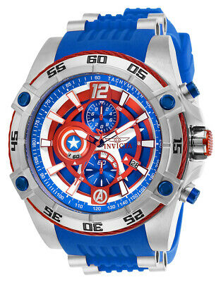 Invicta Men's 26780 'Marvel' Captain America Blue Stainless Steel Watch