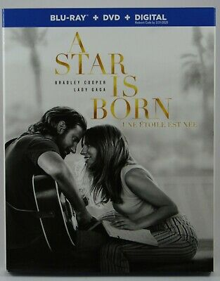 A Star Is Born (2018) [Blu-Ray + Digital + DVD] BRAND NEW Bradley Cooper Gaga