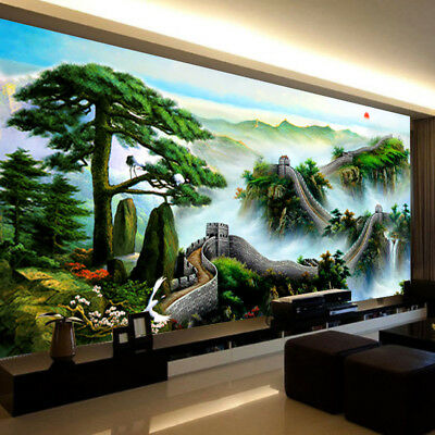 "Fashion DIY 5D Diamond Painting Pine tree ""Great Wall of China""  Full drill 952Y"