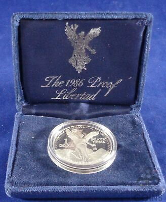 1986 Mexico 1 oz .999 Proof Libertad in Capsule with Box and COA - No.21128!