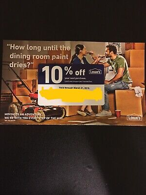 Lowe's 10% Off Coupon