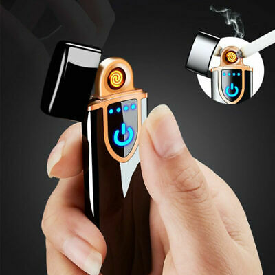 USB Windproof Flameless Rechargeable Electronic Dual Arc Cigarette Lighter