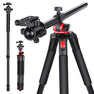 Camera Tripod with 360 Degree Rotatable Center Column and Ball Head QR Plate
