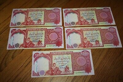 125,000 IQD - (5x) 25,000 IRAQI DINAR Notes - AUTHENTIC CIRC - FAST DELIVERY