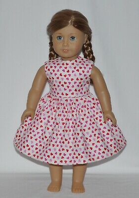 White Heart Doll Dress Clothes Fits American Girl Dolls