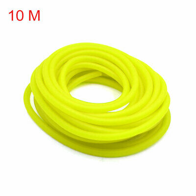 uxcell 4 Pcs 4.5mm Inner Dia Motorcycle Petrol Hose Oil Fuel Line Tube with Clamps Yellow