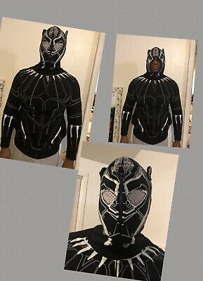 86d70b97642 New Marvel Black Panther Design Hoodie Zip-Up Hoodie Sweater Md Adult  Bioworld