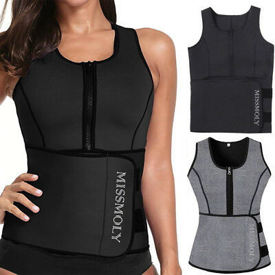 Plus Size Women Neoprene Body Shaper Slimmer Waist Trainer Vest Ultra Sweat Belt