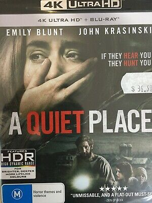 A QUIET PLACE - 4K BLURAY + BLURAY 2018 BRAND NEW! All Region